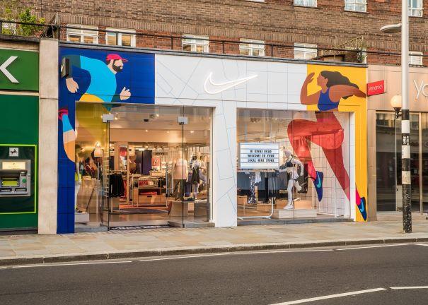 Nike goes Kings Road local, London: July 2021