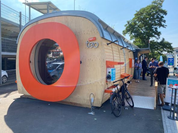 Tegut Teo from Migros. Checkout-free. Fulda: August 2021